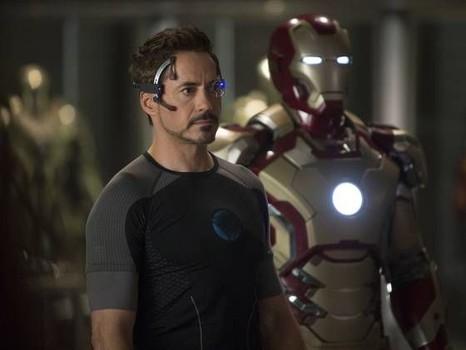 "Robert Downey Jr stars in ""Iron Man 3."""