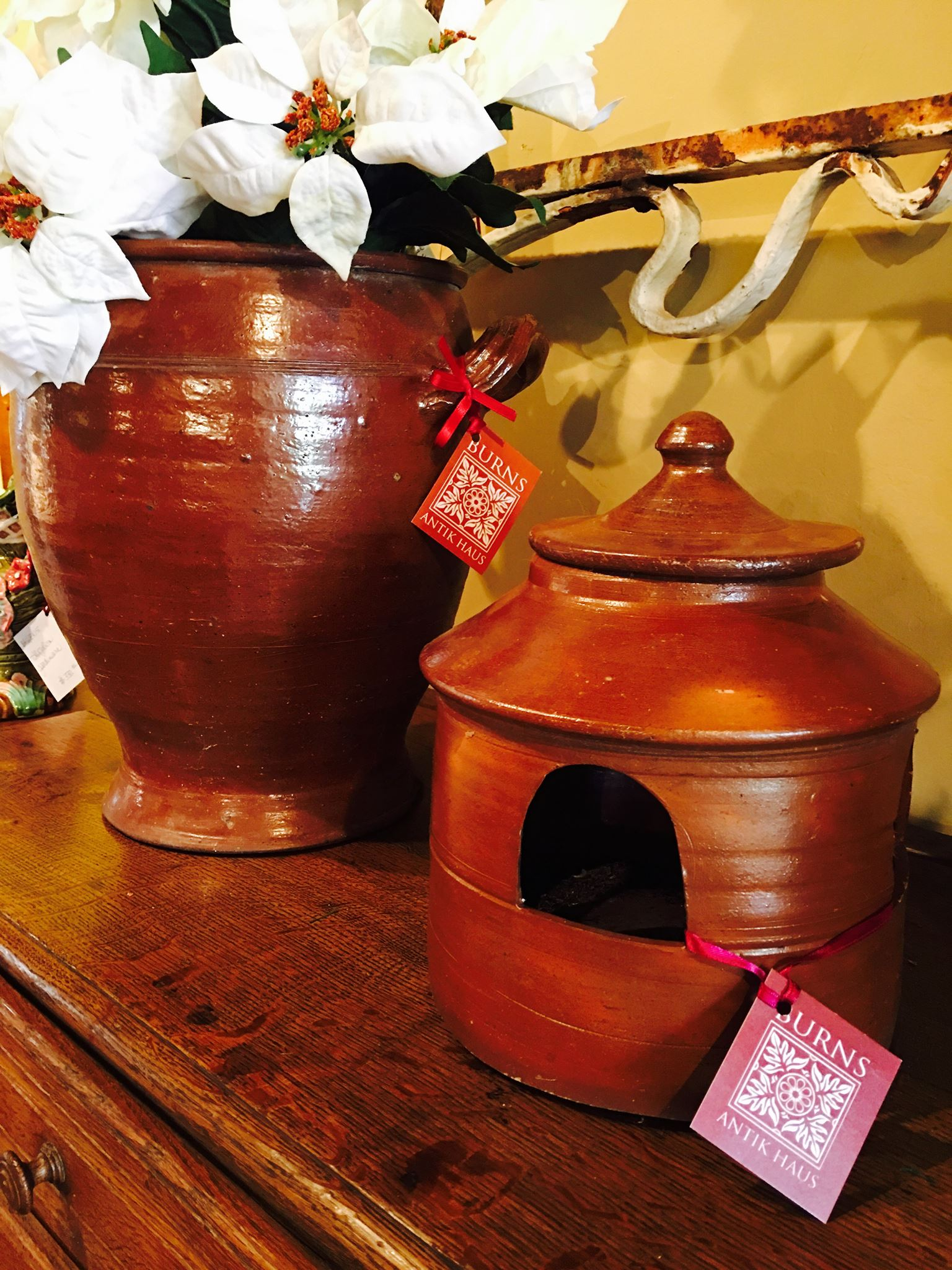For the nature lover in your family, French Glazed Pottery pigeon/bird feeder! Come shop Burns Antik Haus for that hard to buy person in your life!!! 2195 Calder Ave, Beaumont, TX, 77701, 409.835.3080