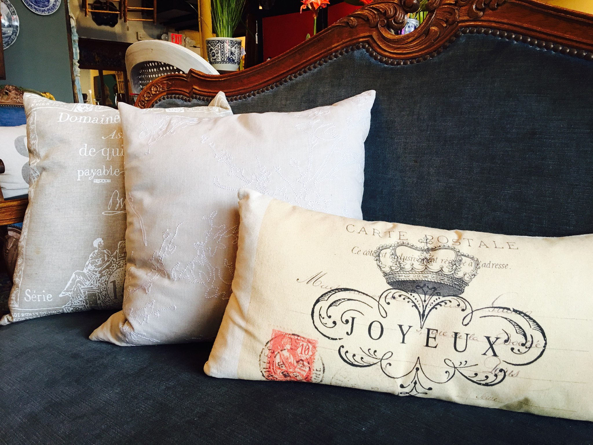 In need of some new throw pillows before all your holiday guest arrive!?! Come check out these beautiful new pillows! Neutral colors that will go with anything. Come shop Burns Antik Haus for all your holiday needs!!! 2195 Calder Ave, Beaumont, TX 77701, 409.835.3080.
