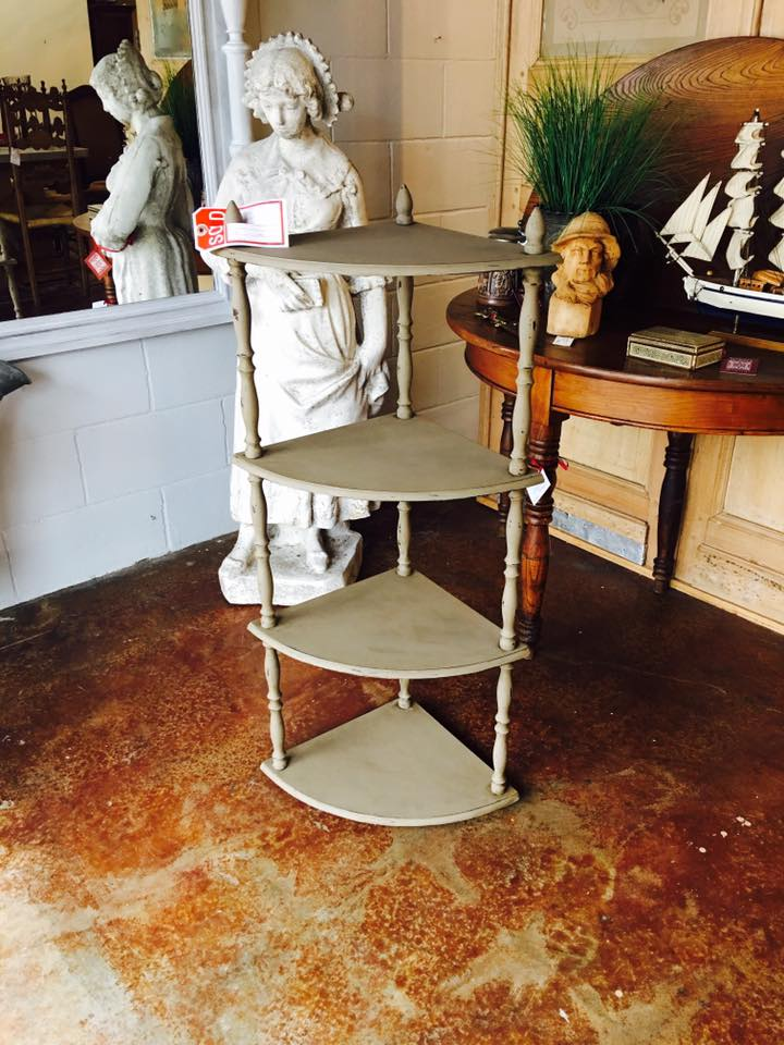 Before and After of a cookbook stand that is headed to a clients house in Baton Rouge! Maison Blanche Antique Furniture Paint in Pecan and waxed with dark brown wax. 2195 Calder Ave, Beaumont Tx, 77701, 409.835.3080.  #vintagepaint  #burnsantikhaus  #europeanimporters