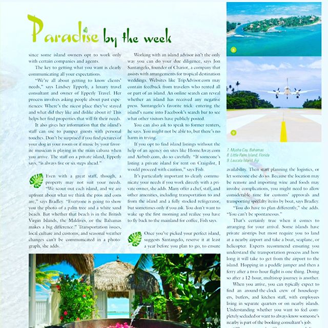 Did you check out Business Jet Traveler mag and read our take on how to rent a private island yet? 🏝💒☀️🕶#prrequest #weddingblogger #weddingwriter #travelwriter #luxewedding