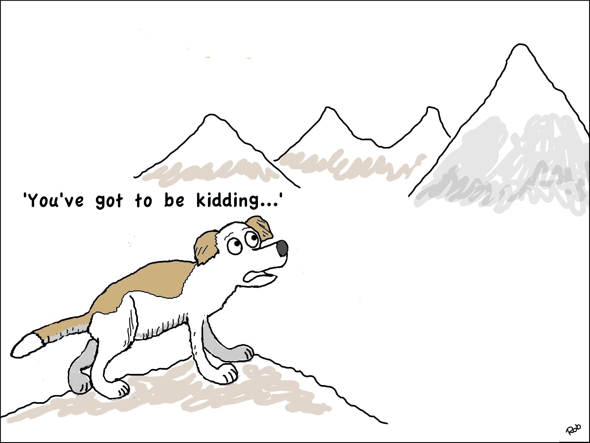 dog-mountain-cartoon