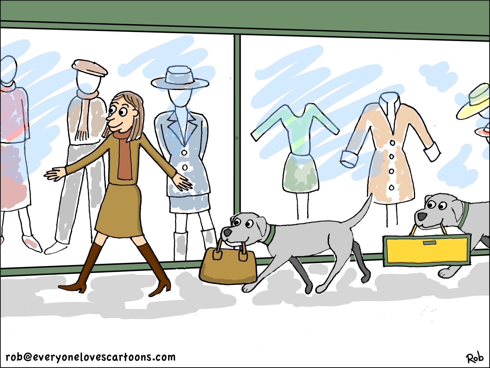 dog-carrying-bag-cartoon