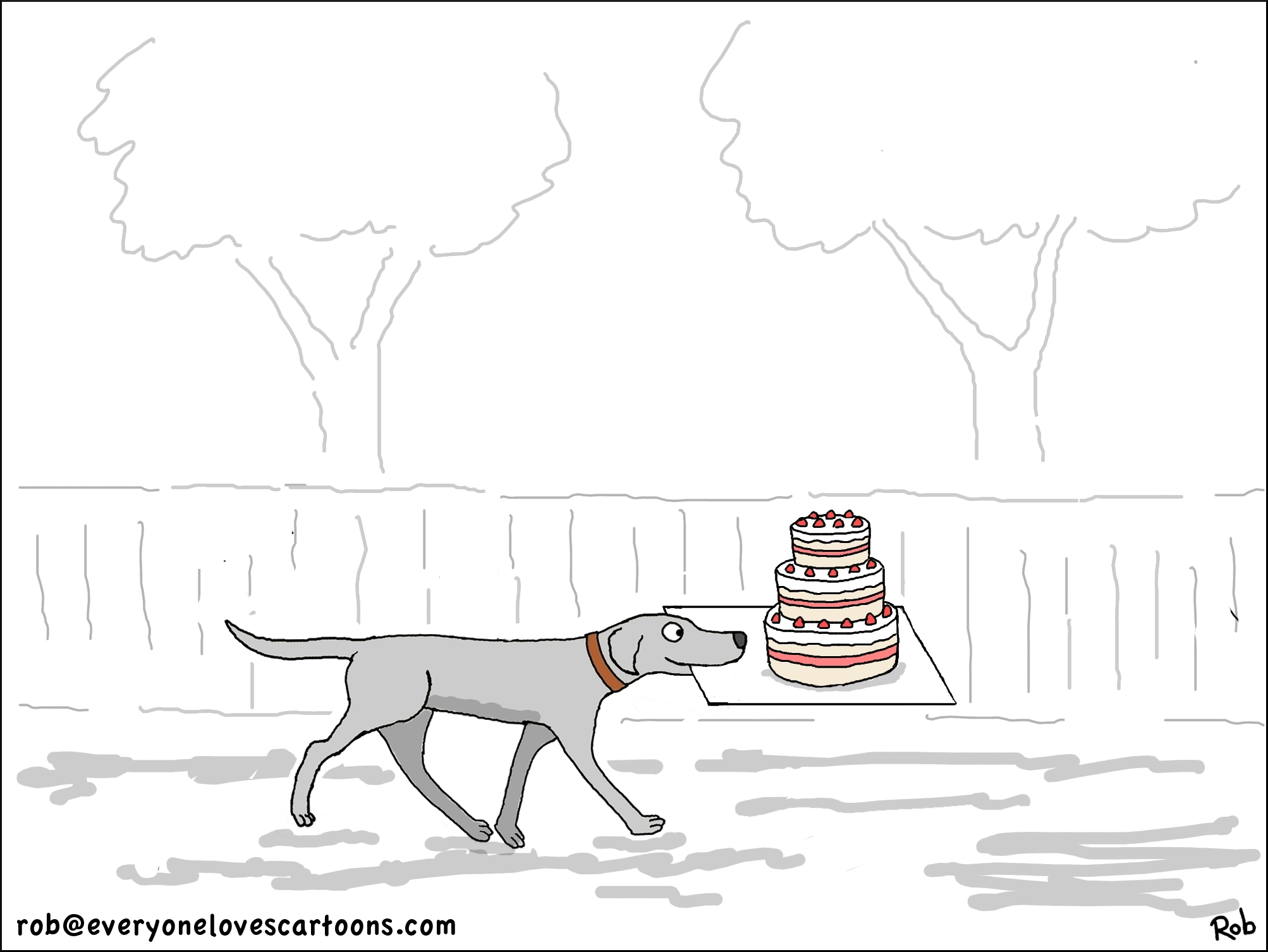 dog-and-cake-cartoon