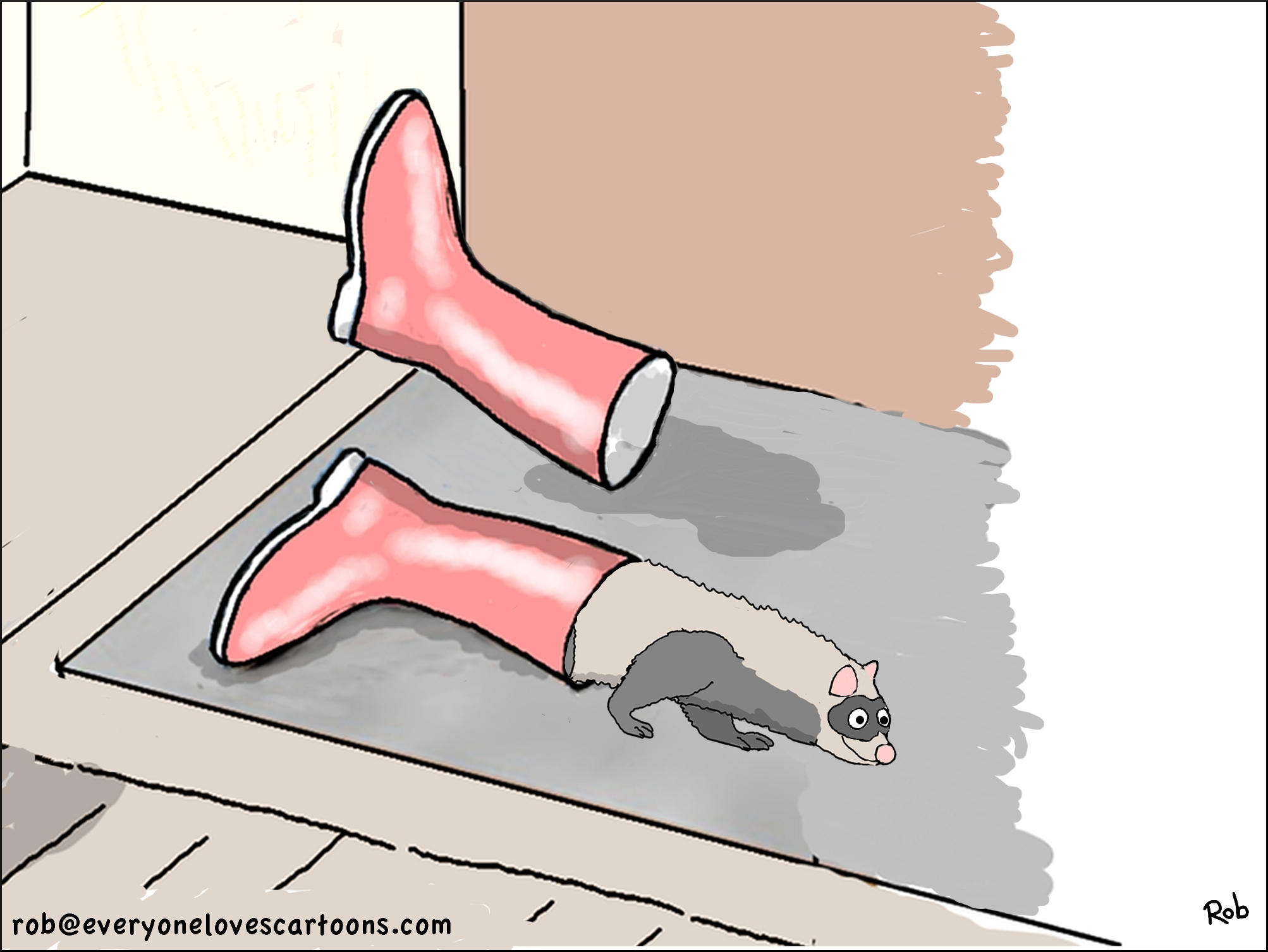 ferret-cartoon