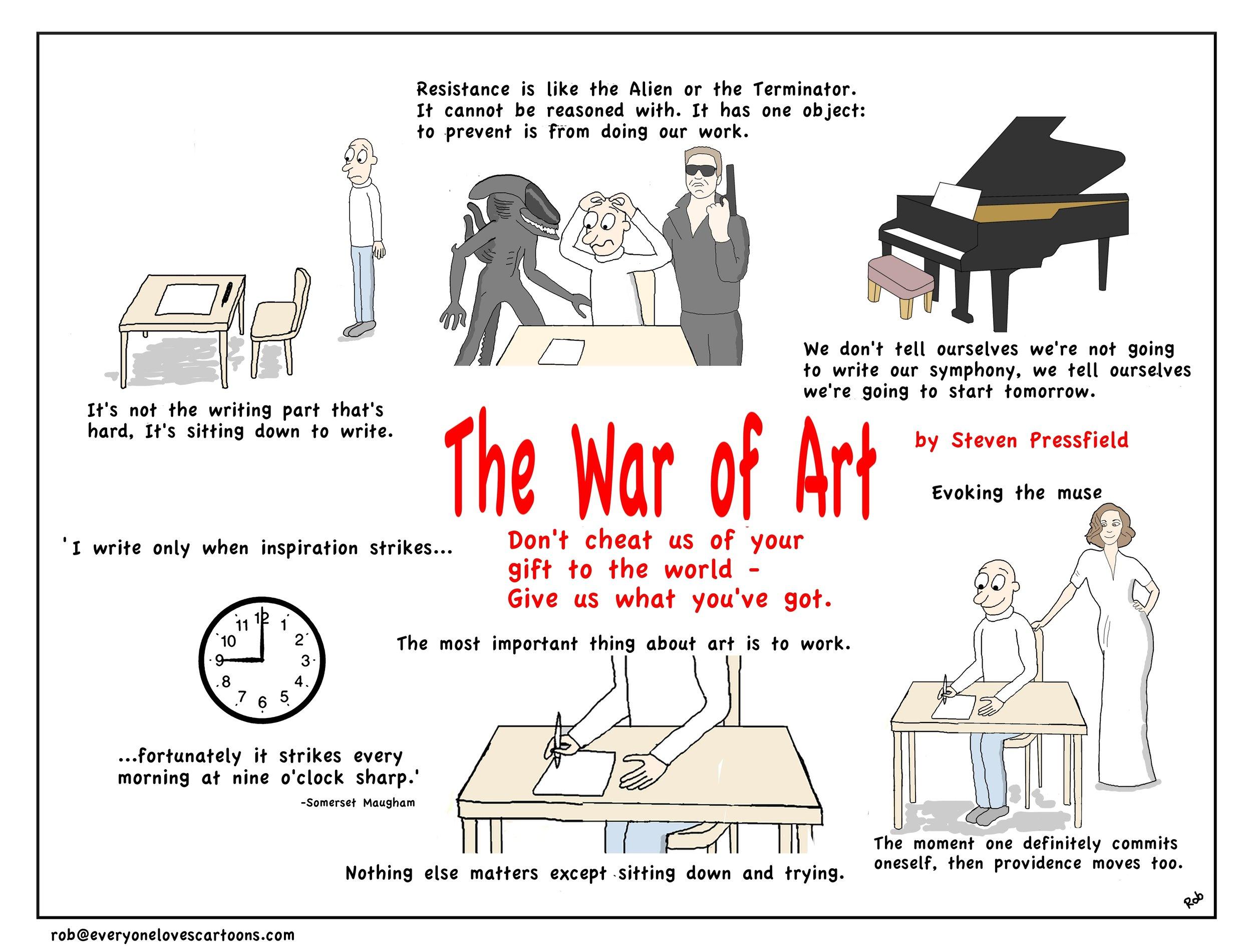 war of art infographic