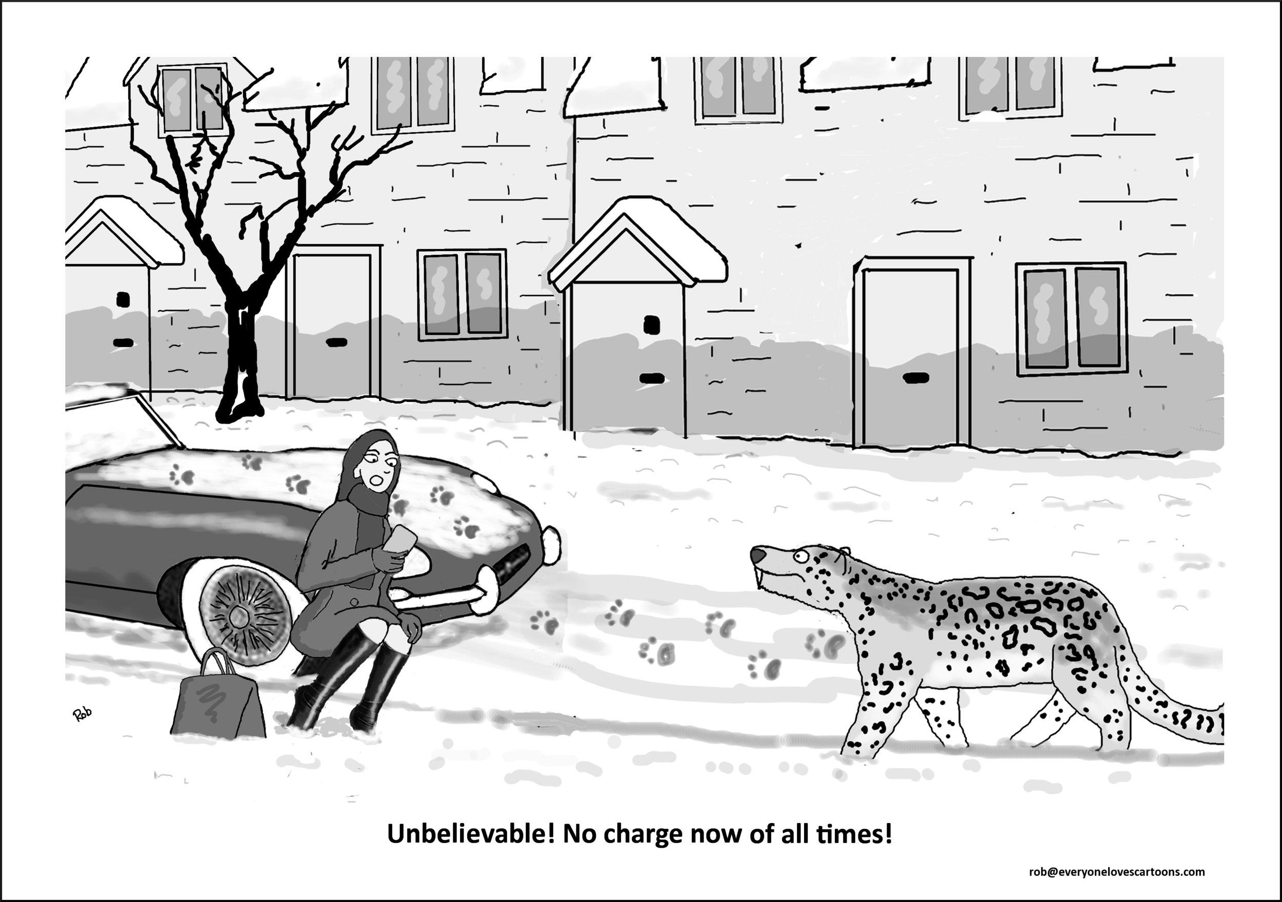 snow leopard cartoon