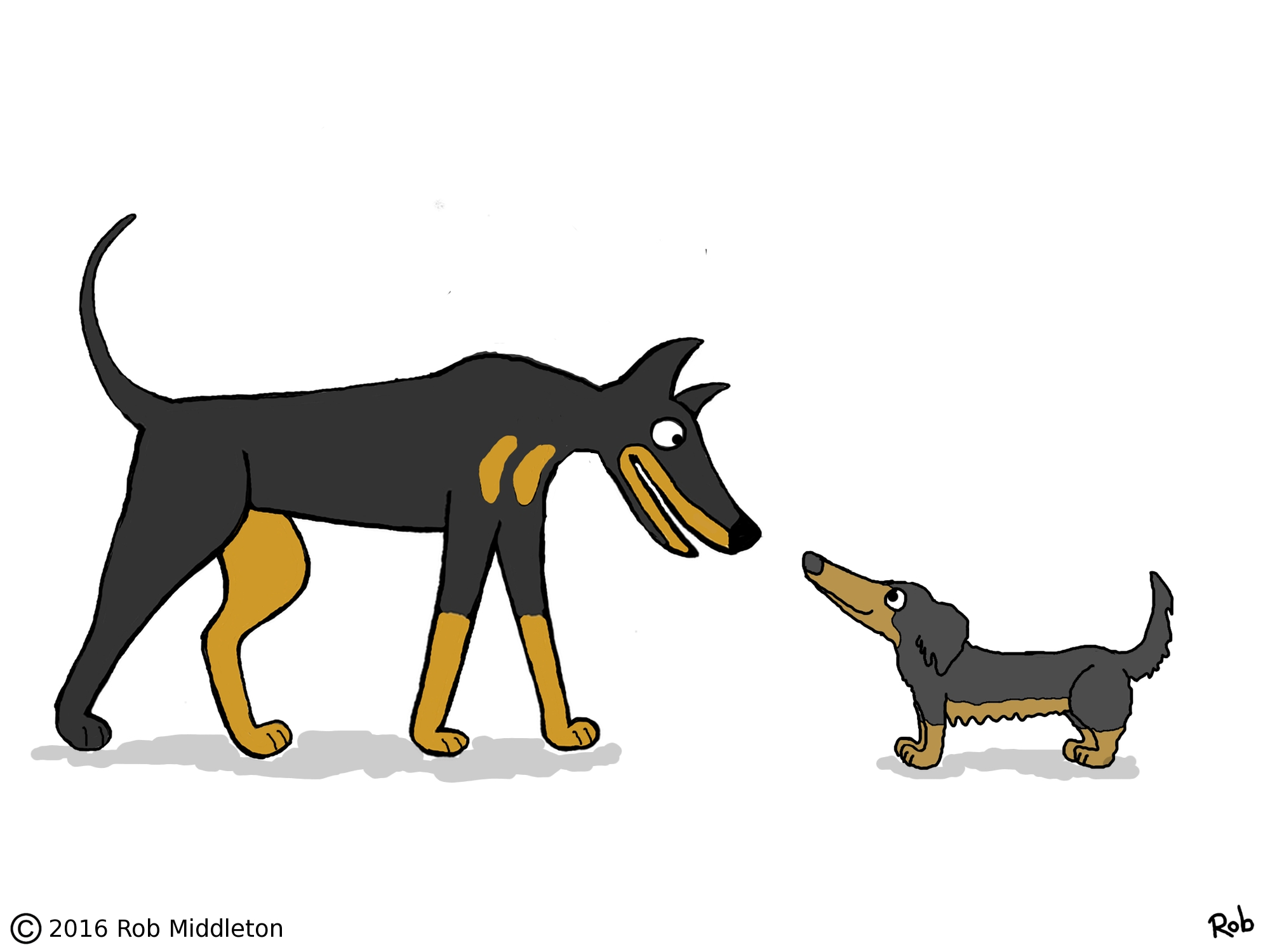 doberman cartoon