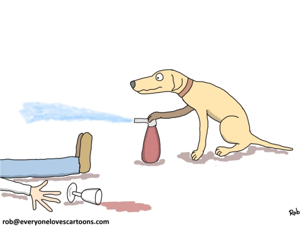 labrador drunk guy cartoon