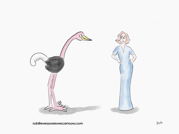 ostrich-and-woman-cartoon
