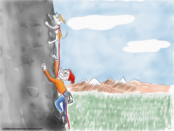 rockclimbing cartoon