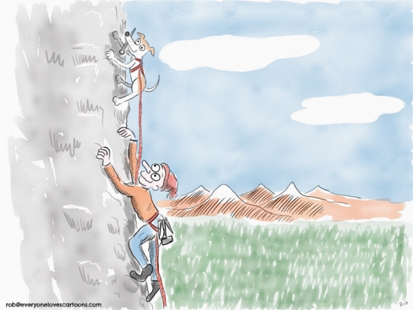 rock climber cartoon