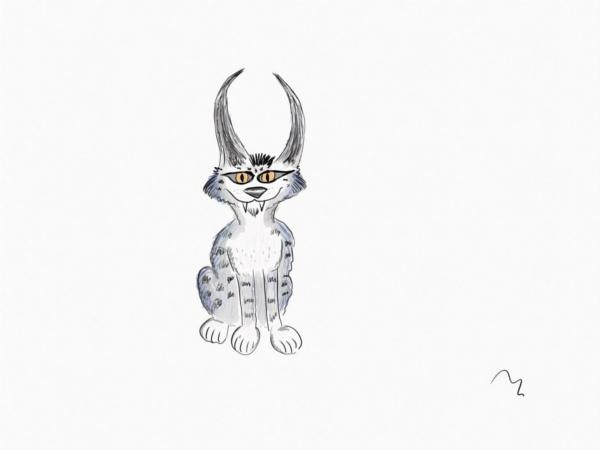 cartoon lynx