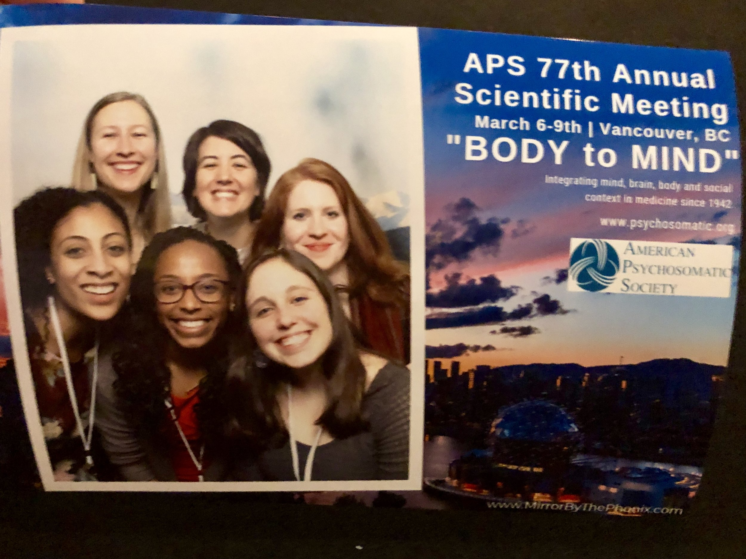 The Carolina Social Neuroscience & Health lab at the 2019 American Psychosomatic Society meeting in Vancouver!