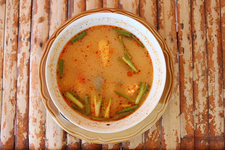 Tom Yum Soup in Srithanu village