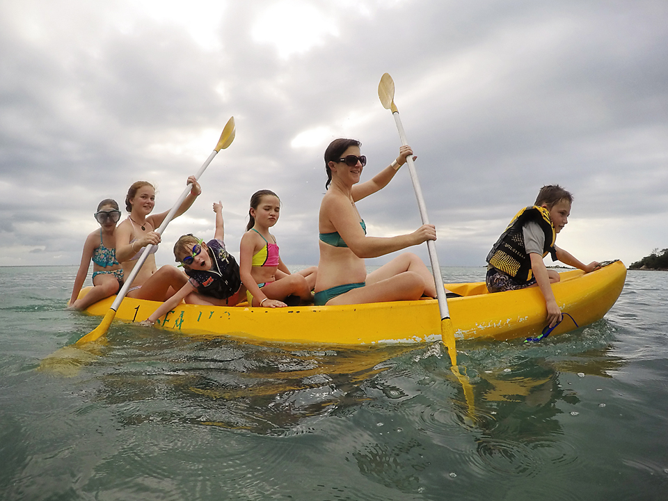 I'm sure there is a joke about how many kiwis does it take to paddle a kayak