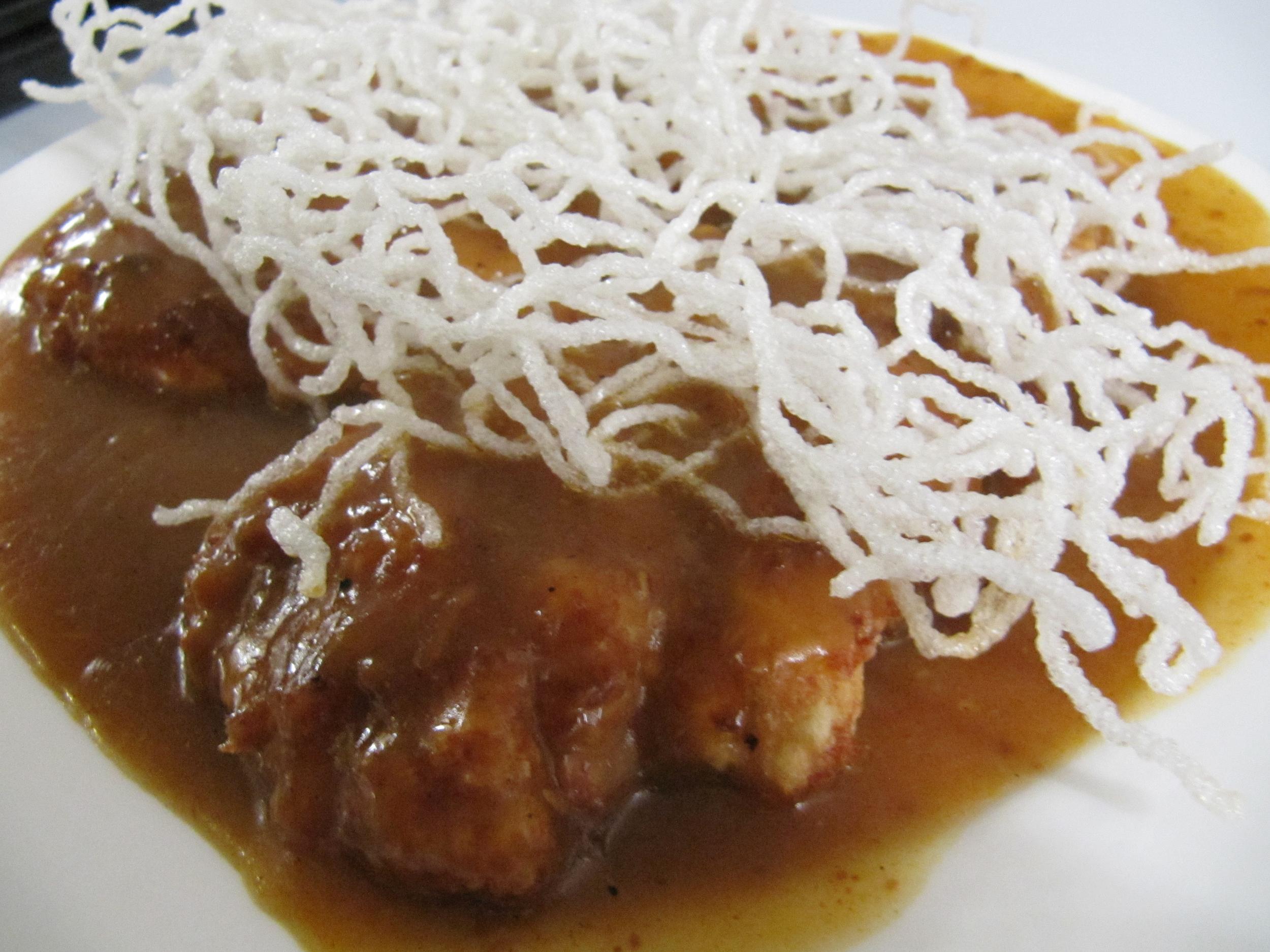 Chicken Katsu in Spicy Satay sauce
