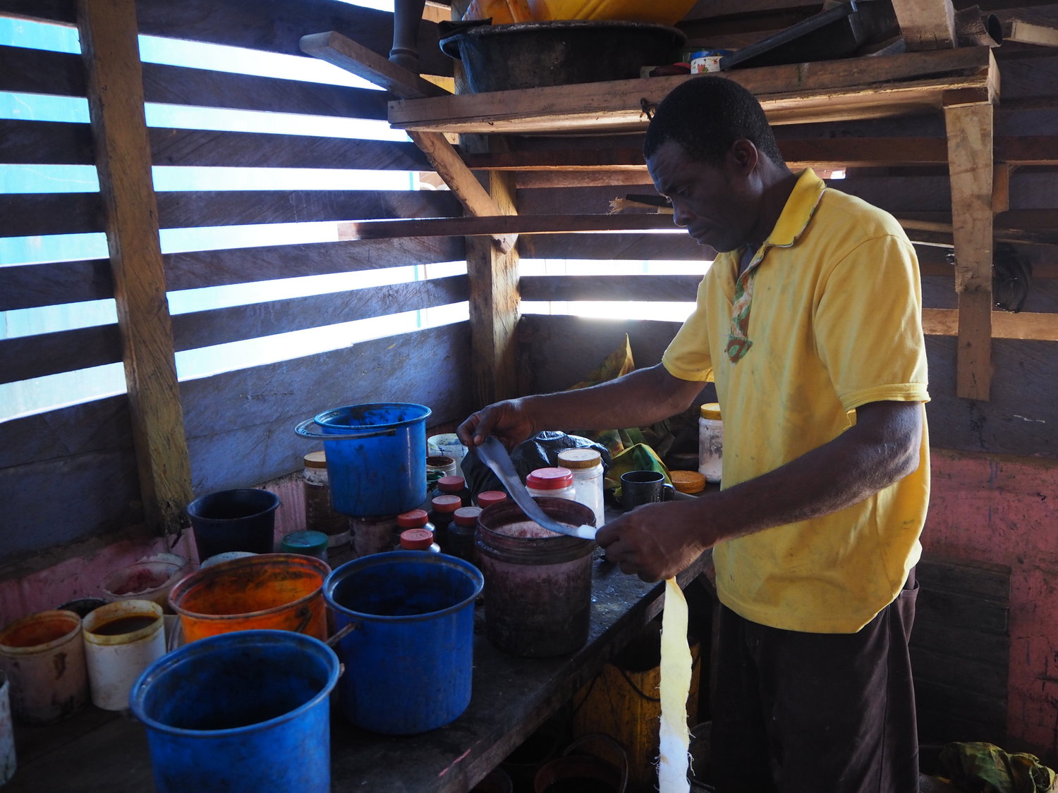 Winfred in his workshop
