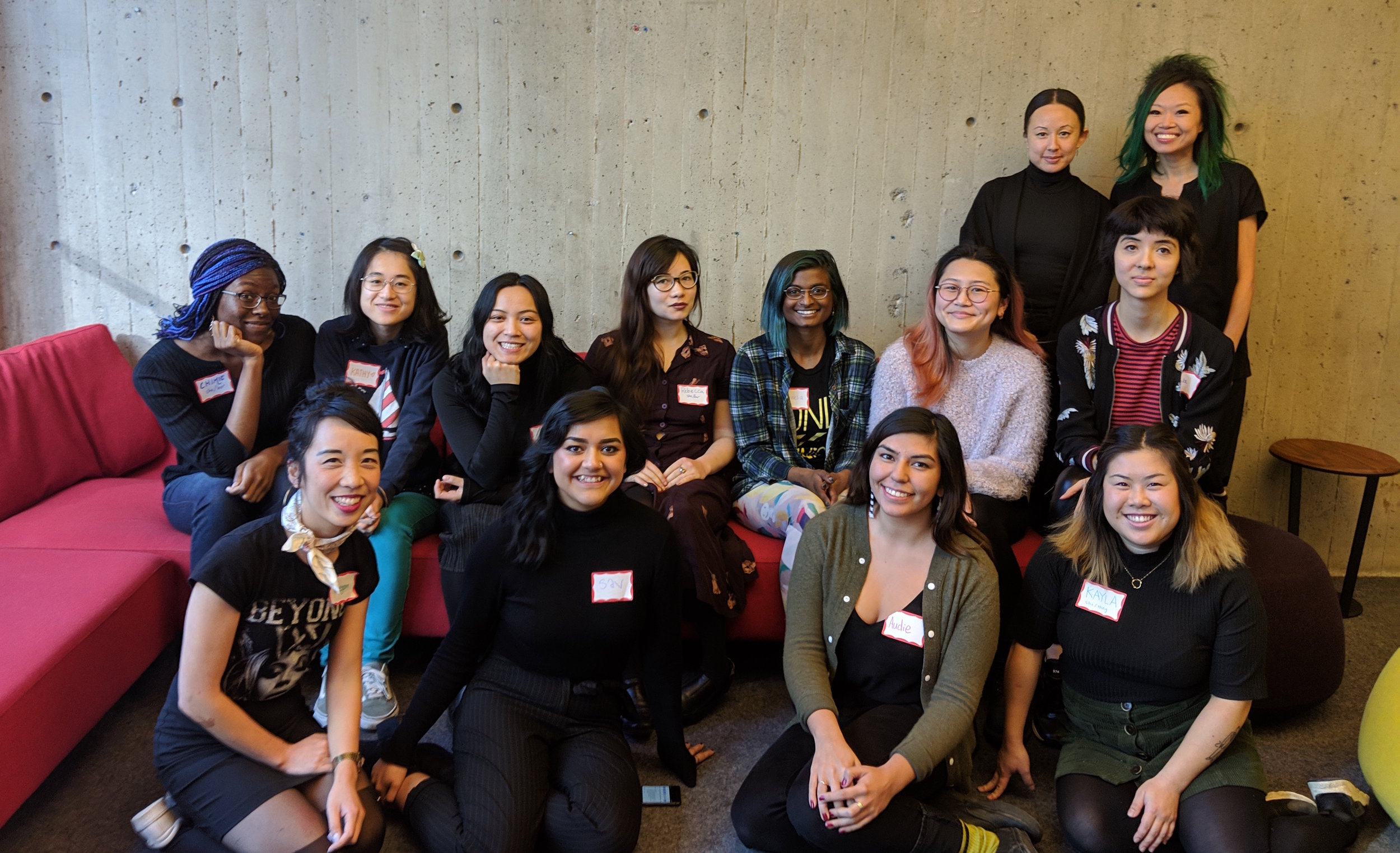 The Winter 2019 cohort with Natasha Neale and Jen Sungshine (back row).