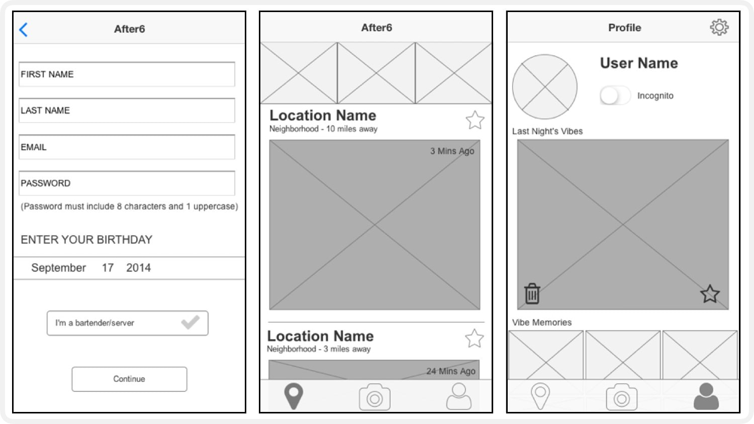 WIREFRAMES - After iterating, I turn the sketches into wireframes and add more details & specifics about specifically how the idea would work. These are useful for a variety of reasons - not only can I test this new version with users but I can also run it by the developers (if they have not already been involved). This is a great time to find out about any potential issues with the new designs; that way we can work together & collaborate to find a suitable alternative before any time gets wasted on an idea that can't be built.