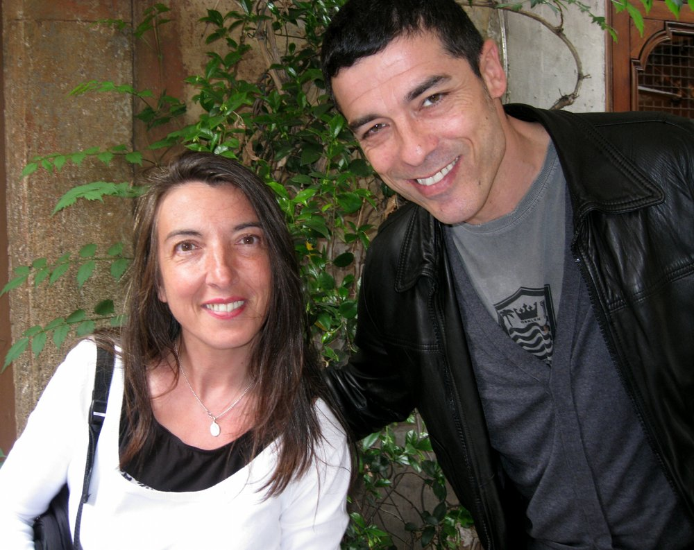 STEFANIA AND ACTOR ALESSANDRO GASSMAN AT THE CAFE' DELLA PACE IN ROME. HE LIVED IN STEFANIA'S NEIGHBORHOOD WHERE MANY OF HIS MOVIES WERE FILMED (ES. LA DONNA DELLA MIA VITA)
