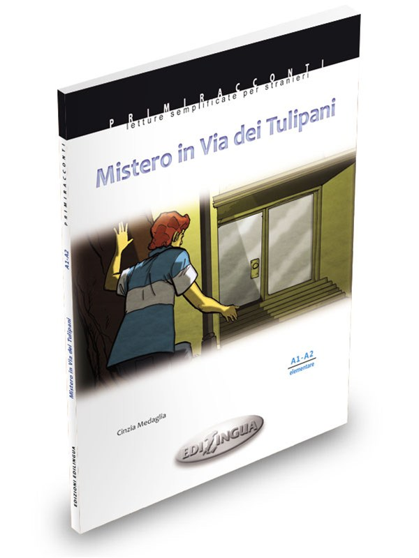 MISTERO IN VIA DEI TULIPANIC. Medaglia Easy readers for foreigners. Elementary level (A1-A2)Mistero in Via dei Tulipani (A1-A2) is an absorbing story, and not without twists, which takes place inside a condominium. It all starts with the murder of Mr. Cassi, the tenant on the second floor. Two sixteen-years-olds, Giacomo and Simona, decide to set out in the search of the assassin. The investigations will lead them to discover not only the murderer, but also love. - PRICE: CAD 18.50 +hstN.1 available