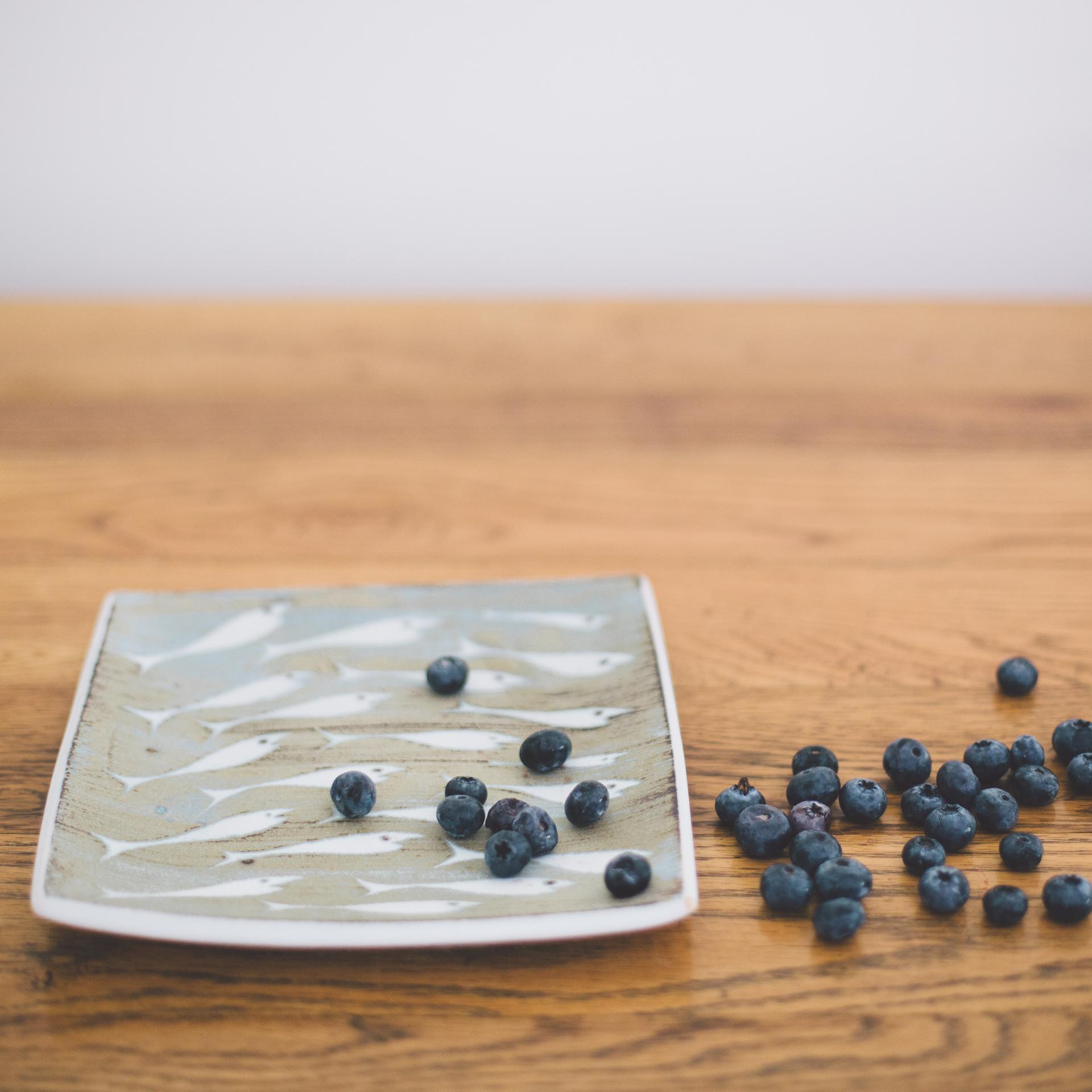 Hand Thrown Stoneware Slab dish