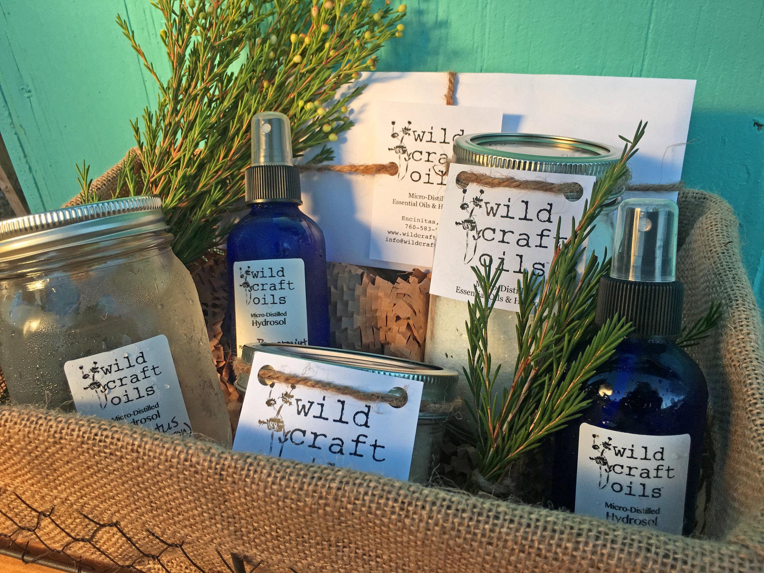 Hydrosol - gift basket - wild craft oils