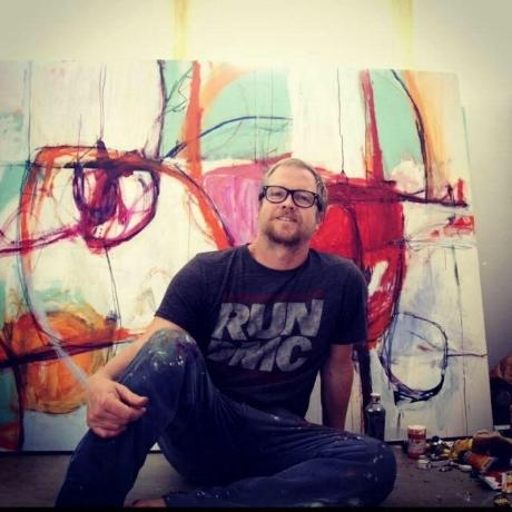 Greg in his studio.