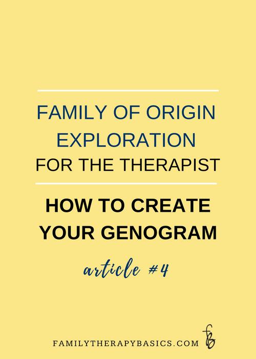 Family of Origin Exploration for the Therapist-Create Your Genogram