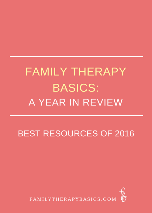 Family Therapy Basics:  A Year in Review