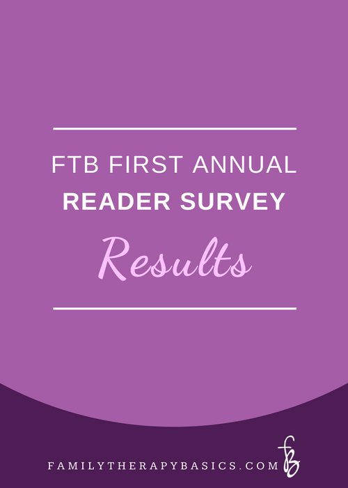 First Annual Family Therapy Basics Survey Results