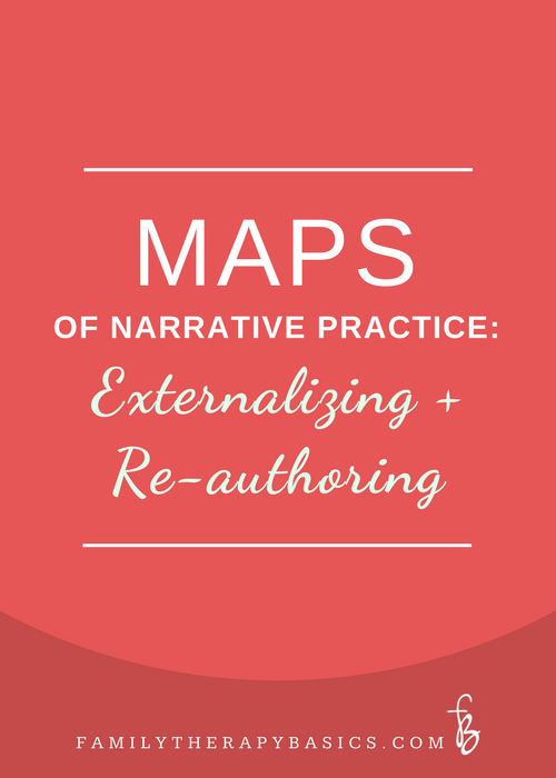Maps of Narrative practice:  Externalizing and Re-authoring