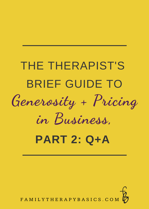 Therapist Pricing Part 2