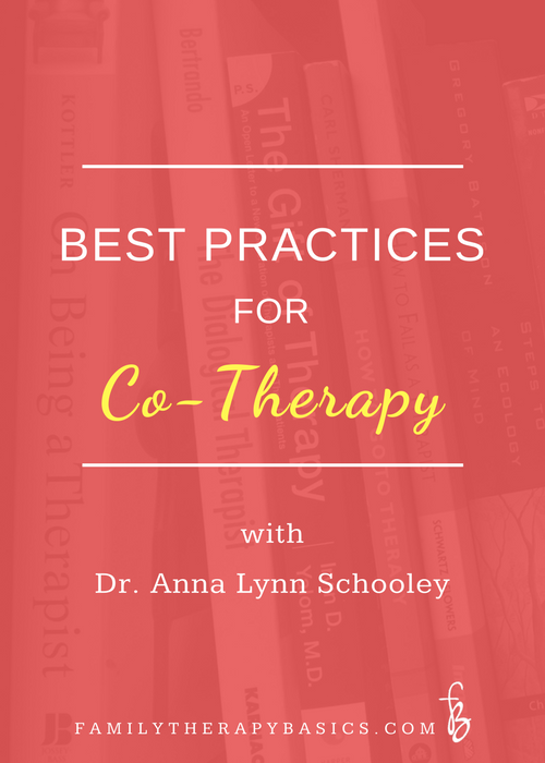 Best Practices Co-Therapy