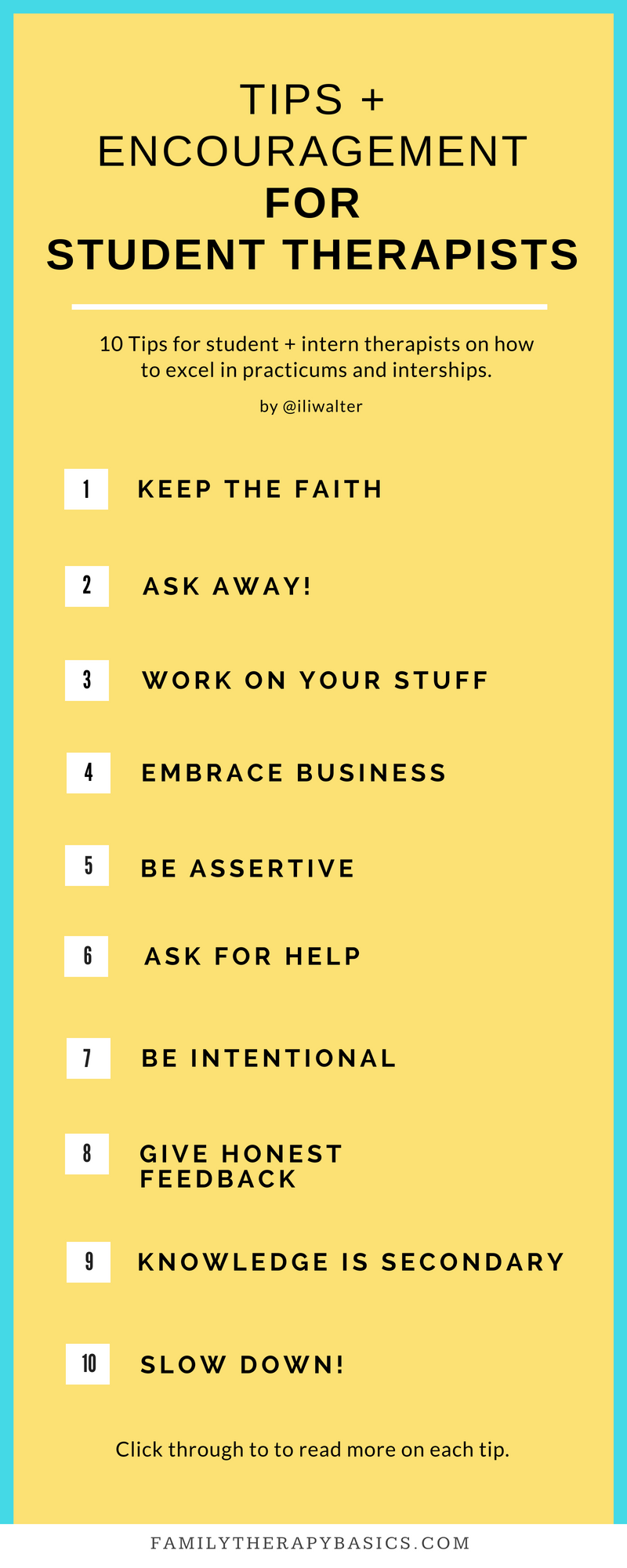Tips for Student Therapists Infographic