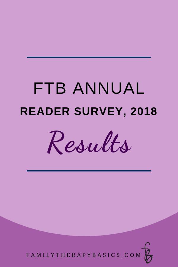 Family Therapy Basics Reader Survey 2018