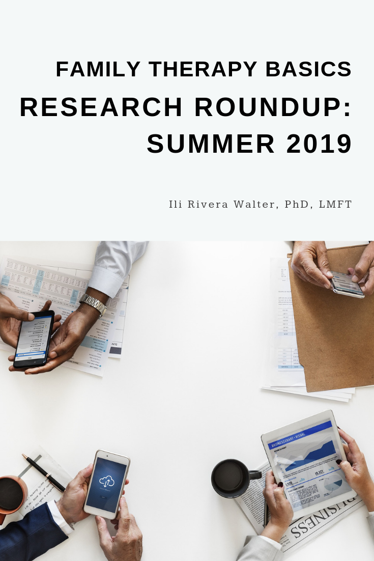 Family Therapy Basics Research Roundup: Summer 2019
