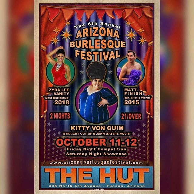 Pleased to announce that I will be performing my Man in the Moon act on the Saturday Night Showcase at the @arizonaburlesquefestival! See you soon Tucson! #doriandietrich #fishnetfollies #burlesque #arizonaburlesquefestival #showgirl #performer #showbiz