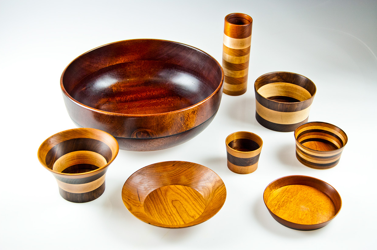 Wood turnings.