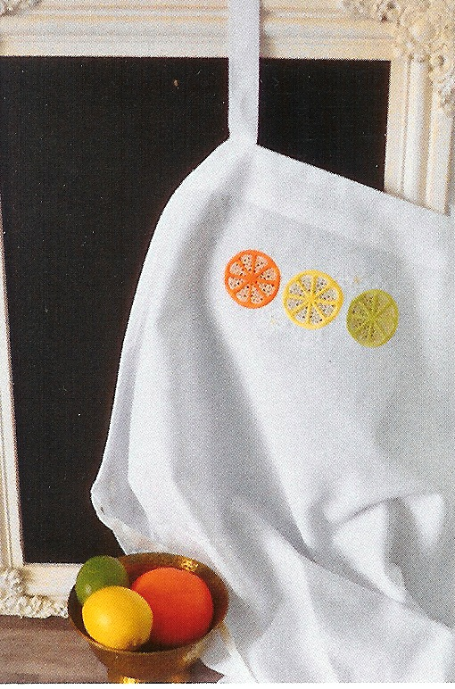 Citrus Cutwork Apron