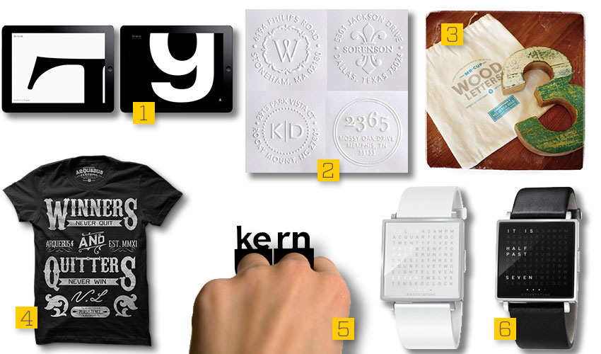 Typography Accessories for Summer