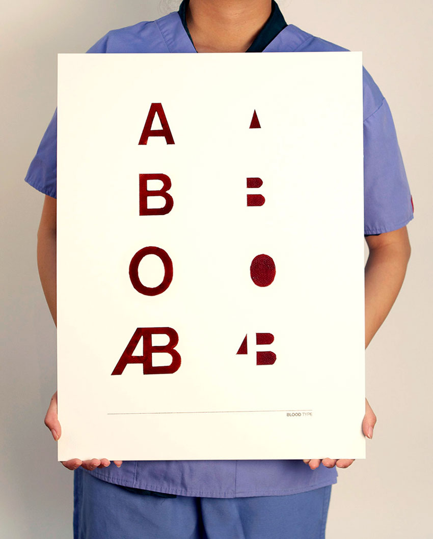 Blood Type typography poster
