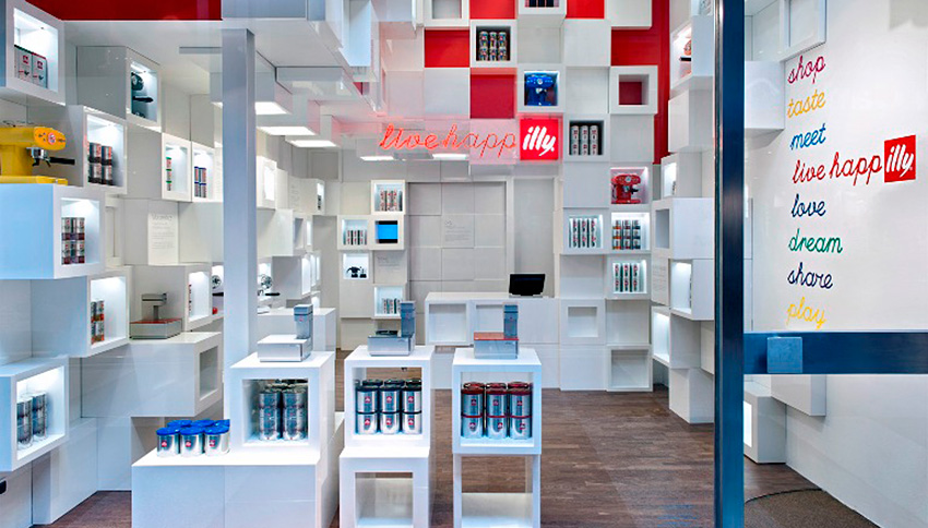 illy shop in Milan