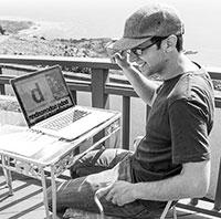 David Jonathan Ross in sunny California