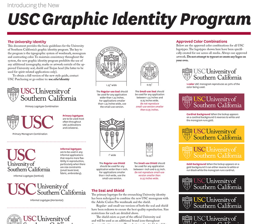 A glimpse at USC Design Studio's cheat sheet.