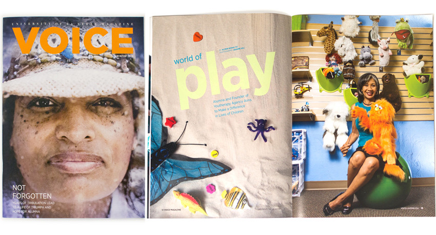 University of La Verne VOICE Magazine Winter edition.