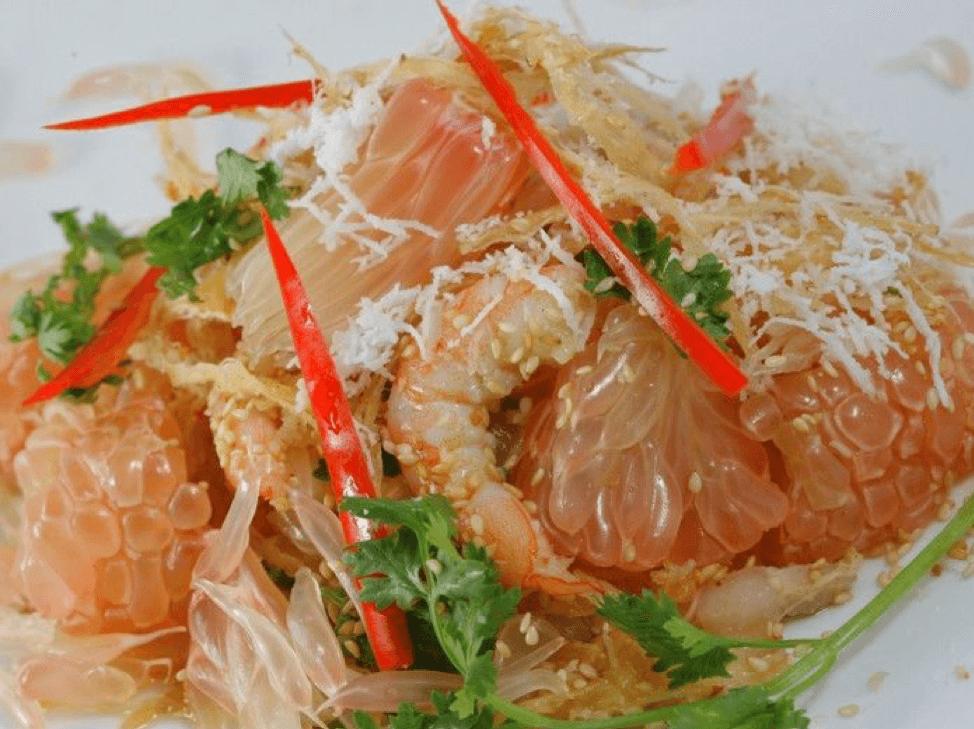 GỎI BƯỞI TÔM THỊT (GRAPEFRUIT WITH SHRIMP AND PORK SALAD)