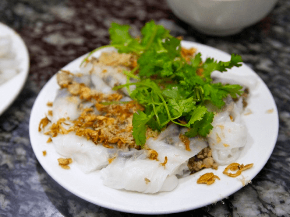 BÁNH CUỐN (RICE NOODLE ROLL)