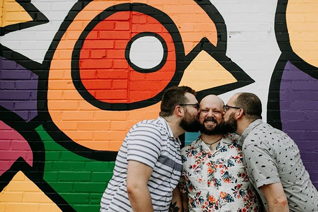 I wrote this one year ago, it's still true: It's June, both Pride month and my birthday month. I'm thankful for my queerness; without it, I would be missing out on really knowing these two beautiful people. I'm thankful for my life, and I'm thankful for being seen. 📸 by @north_arrow_creative  #gaytriad#poly #gay #queer #triad #twobearsandanotter #love